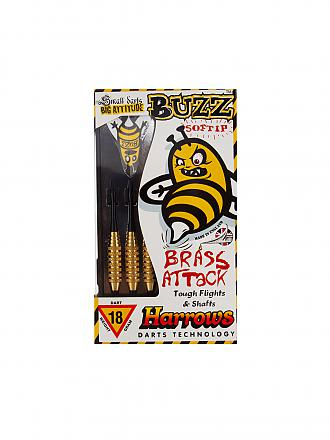 HARROWS | Dartpfeil Softtip Buzz Brass | schwarz