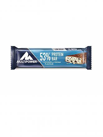 MULTIPOWER | 53% Protein Bar 50g Cookies & Cream | blau