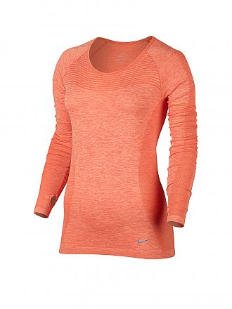 NIKE | Damen Laufshirt Dri Fit Knit | orange