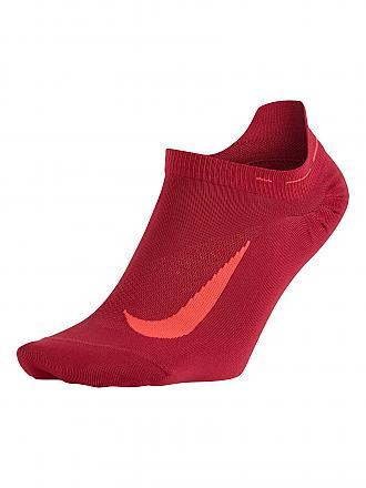 NIKE | Damen Laufsocken Elite Lightweight No-Show Tab | rot