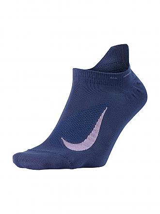 NIKE | Damen Laufsocken Elite Lightweight No-Show Tab | blau