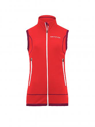 ORTOVOX | Damen Gilet Merino Fleece Lite | orange