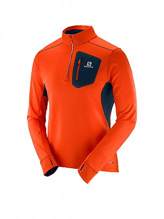 SALOMON | Herren Laufshirt Trail Runner Warm | orange