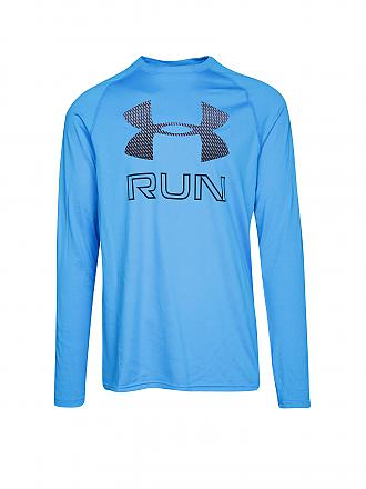 UNDER ARMOUR | Herren Laufshirt Big Logo | blau