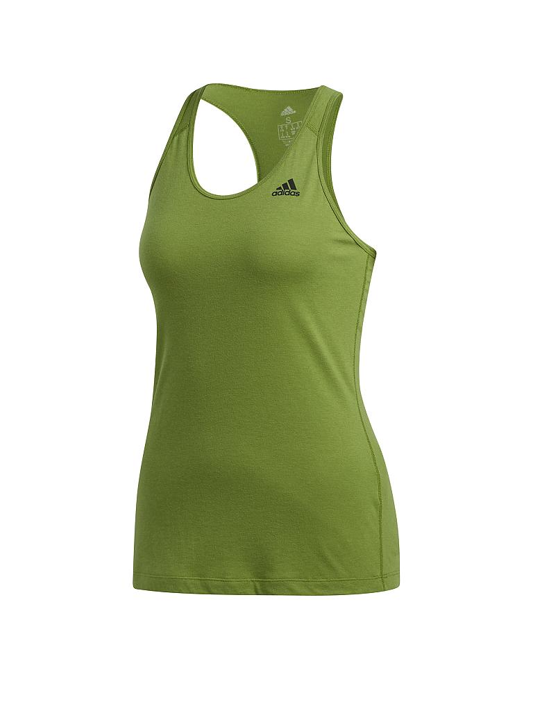 adidas All Premium Strappy Tank Top Damen Grün, Neongrün