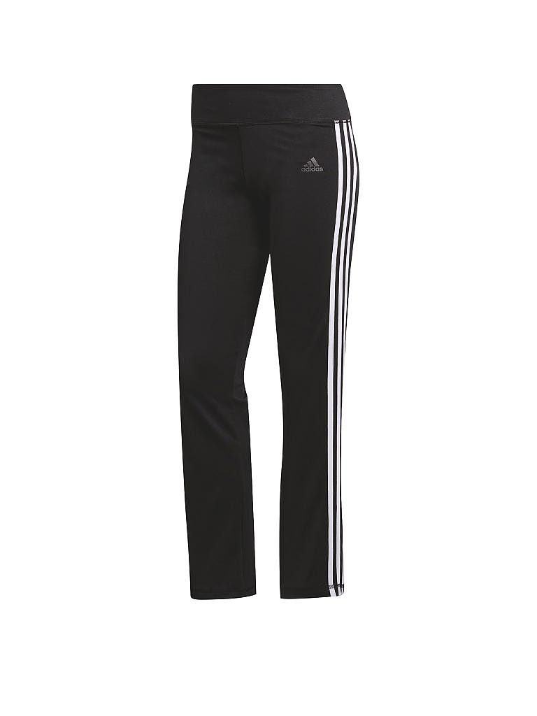 adidas damen fitness hose 3s schwarz xl lang. Black Bedroom Furniture Sets. Home Design Ideas