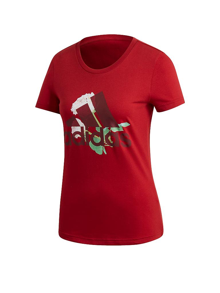 ADIDAS | Damen Fitness-Shirt Flower Logo | rot