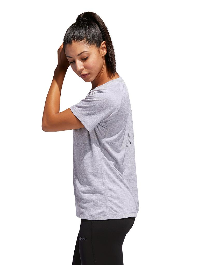 ADIDAS | Damen Fitness-Shirt Tech Prime | grau