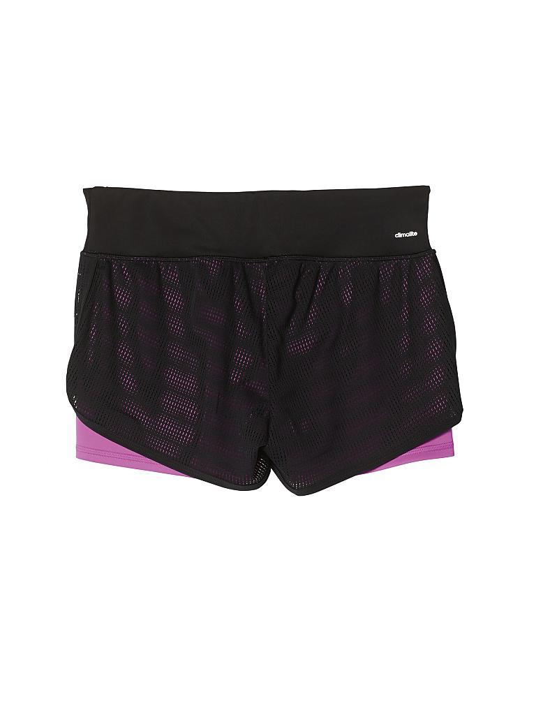 ADIDAS | Damen Fitness-Short Two-in-One Mesh Gym | schwarz