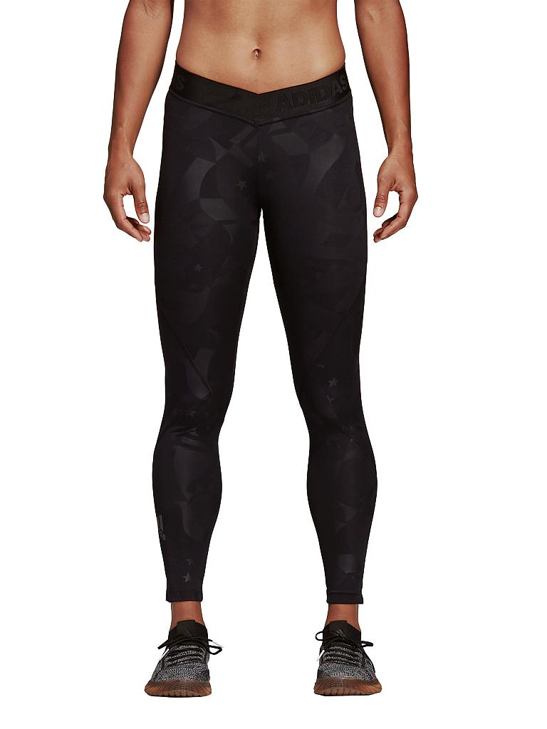 ADIDAS | Damen Fitness-Tight Alphaskin Sport 2.0 Embossed | schwarz