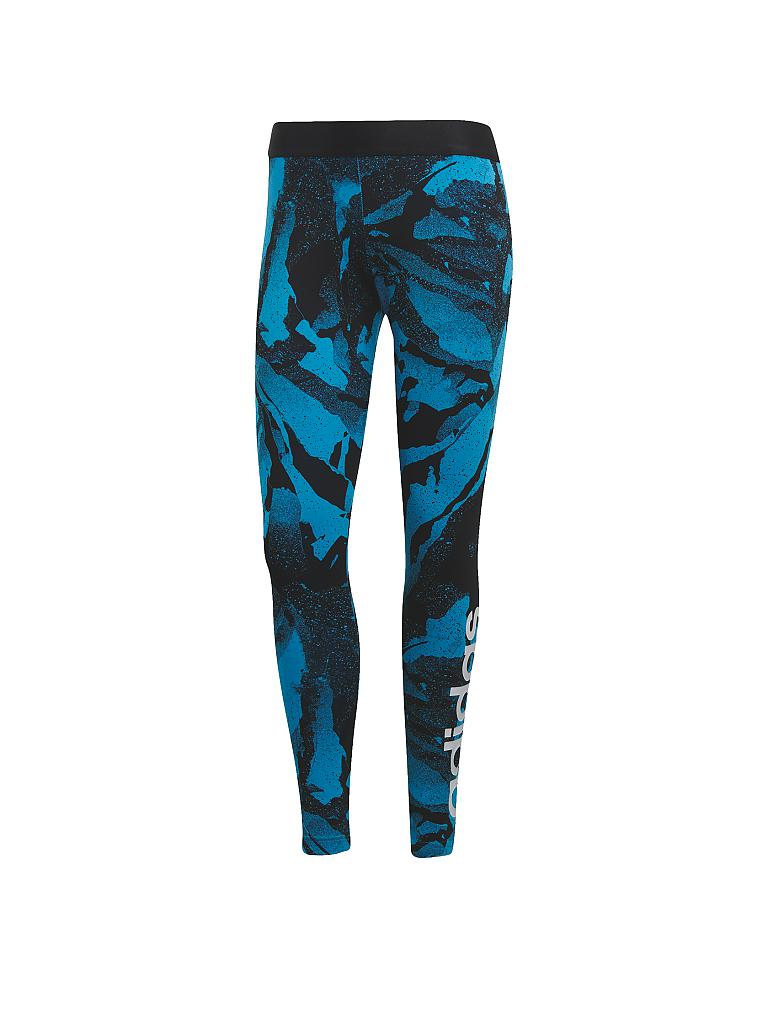 ADIDAS | Damen Fitness-Tight Essentials Season Allover Print | türkis