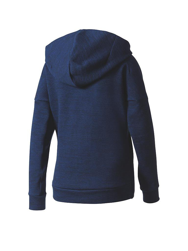 adidas damen kapuzenjacke z n e travel hoodie blau xs. Black Bedroom Furniture Sets. Home Design Ideas