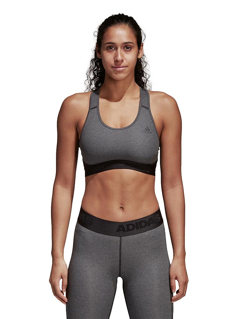 ADIDAS | Damen Sport-BH Don't Rest AlphaSkin Medium Support | grau