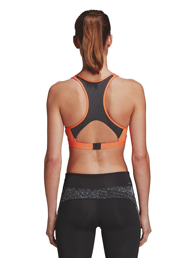 adidas damen sport bh racerback orange xs. Black Bedroom Furniture Sets. Home Design Ideas