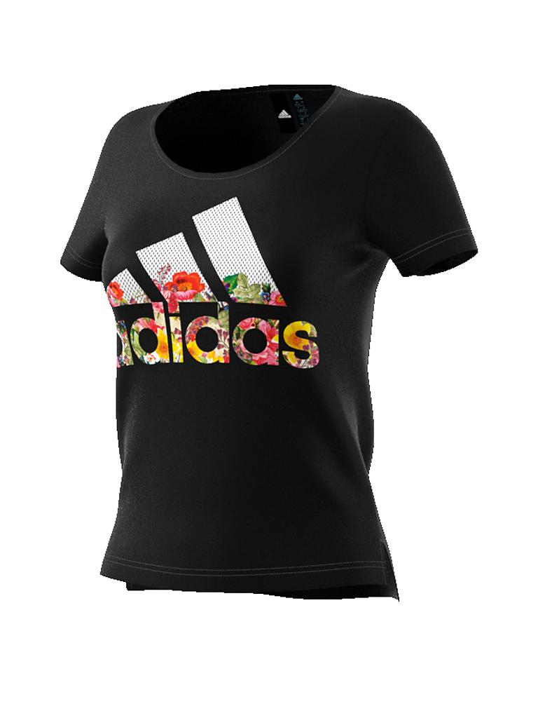 ADIDAS | Damen T-Shirt Badge of Sports Flower | schwarz
