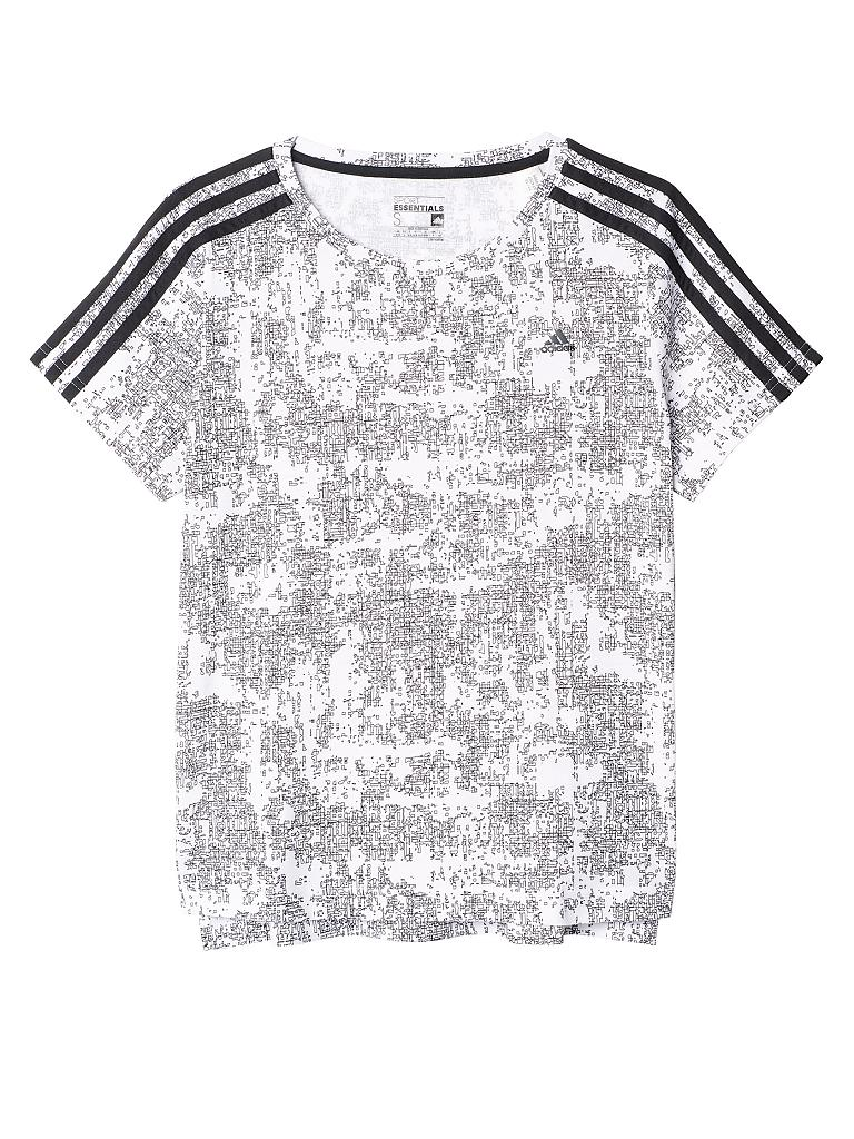 ADIDAS | Damen T-Shirt Essentials 3S Slim AOP | weiß