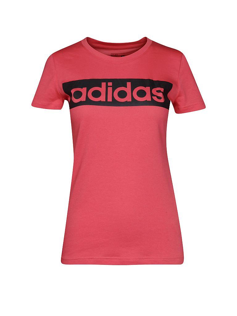 adidas damen t shirt essentials linear rot xs. Black Bedroom Furniture Sets. Home Design Ideas