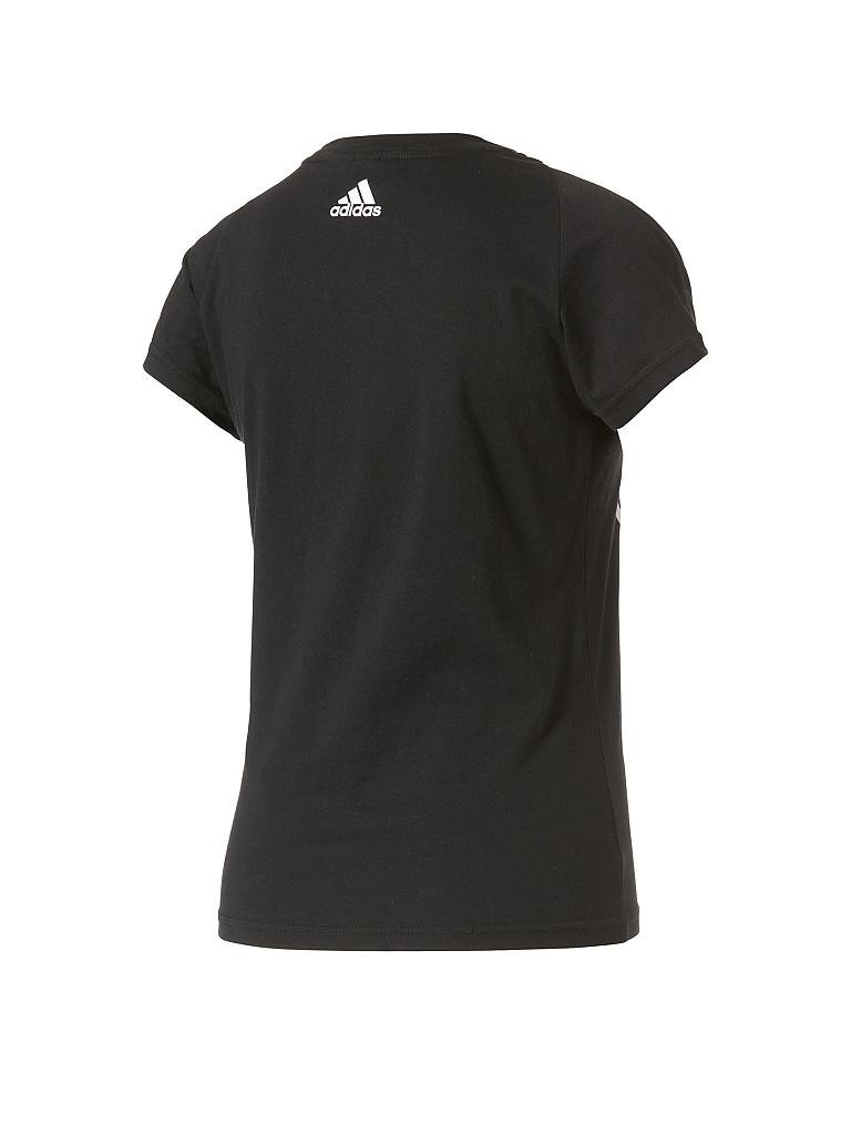 adidas damen t shirt essentials linear schwarz xs. Black Bedroom Furniture Sets. Home Design Ideas