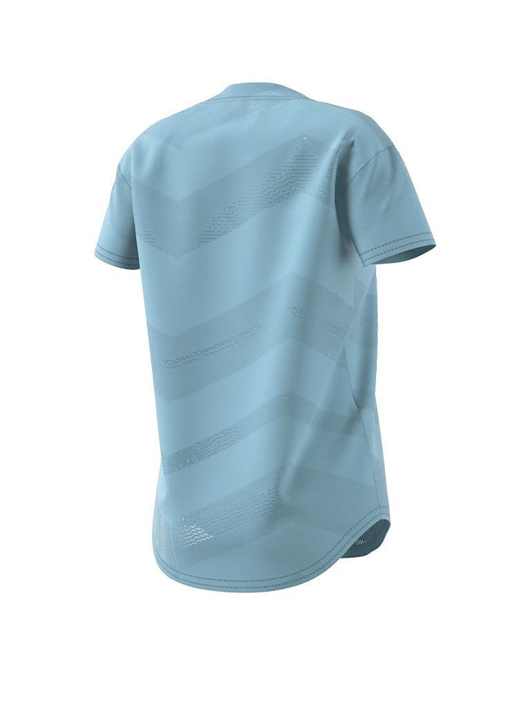 adidas damen t shirt id blau xs. Black Bedroom Furniture Sets. Home Design Ideas