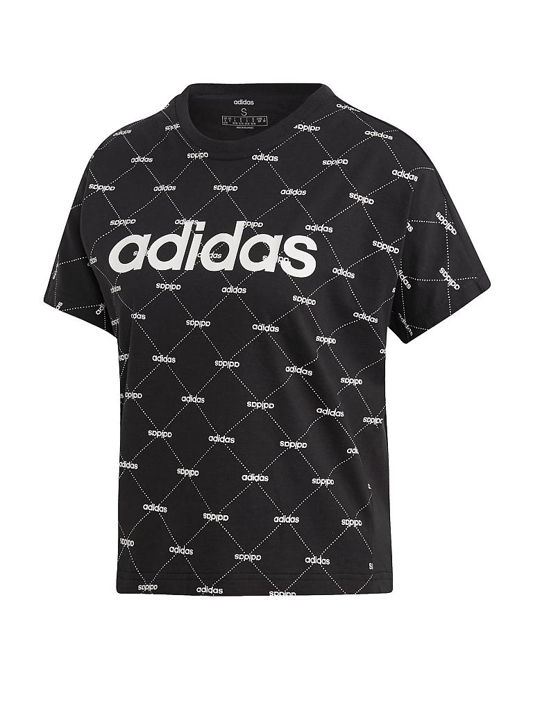 ADIDAS | Damen T-Shirt Linear Graphic | schwarz