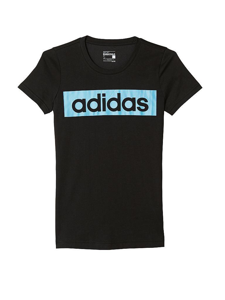 adidas damen t shirt linear schwarz xs. Black Bedroom Furniture Sets. Home Design Ideas