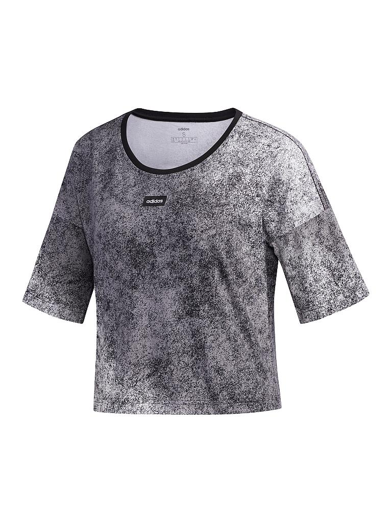 ADIDAS | Damen T-Shirt Moment Cropped | grau