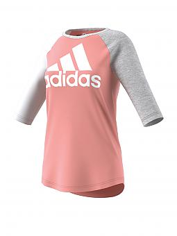 adidas damen t shirt sport id baseball bunt l. Black Bedroom Furniture Sets. Home Design Ideas
