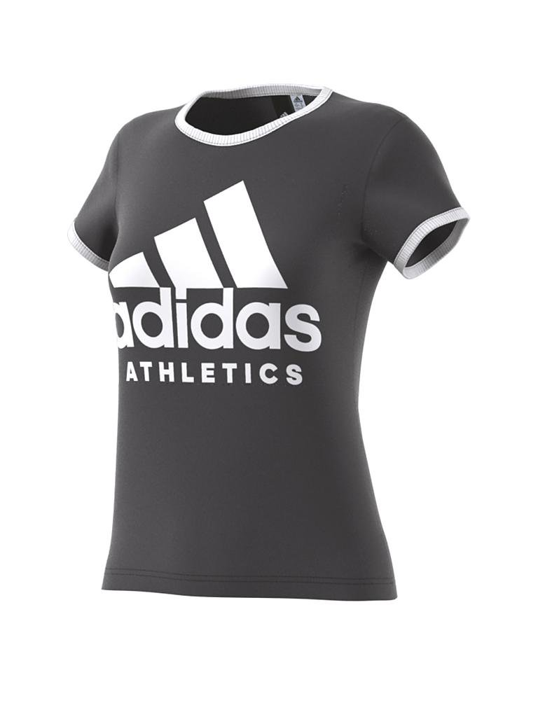 adidas damen t shirt sport id grau s. Black Bedroom Furniture Sets. Home Design Ideas