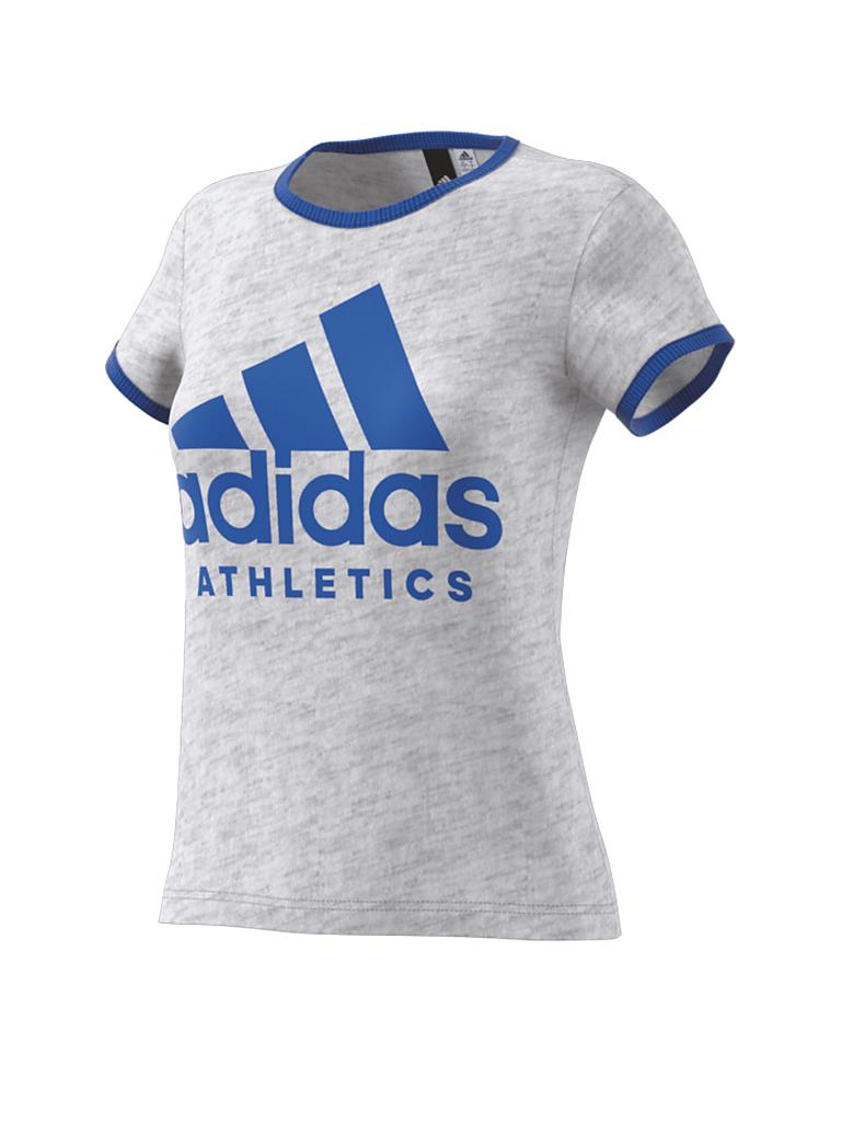 adidas damen t shirt sport id grau xs. Black Bedroom Furniture Sets. Home Design Ideas