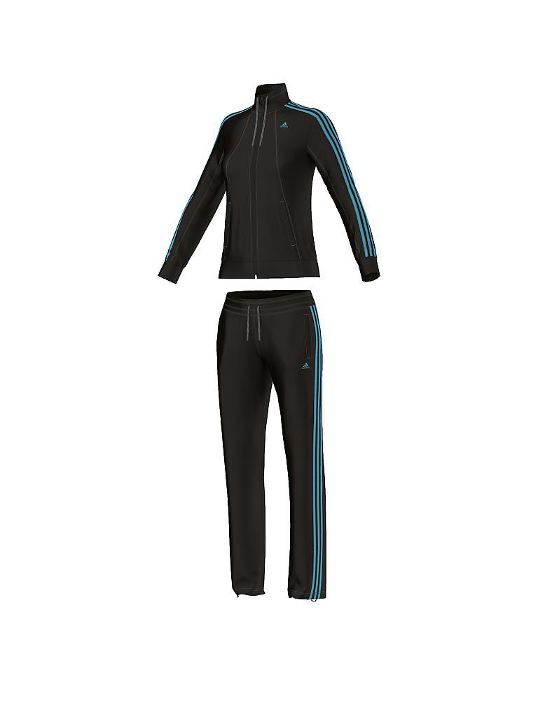 adidas damen trainingsanzug ess 3s schwarz xs. Black Bedroom Furniture Sets. Home Design Ideas