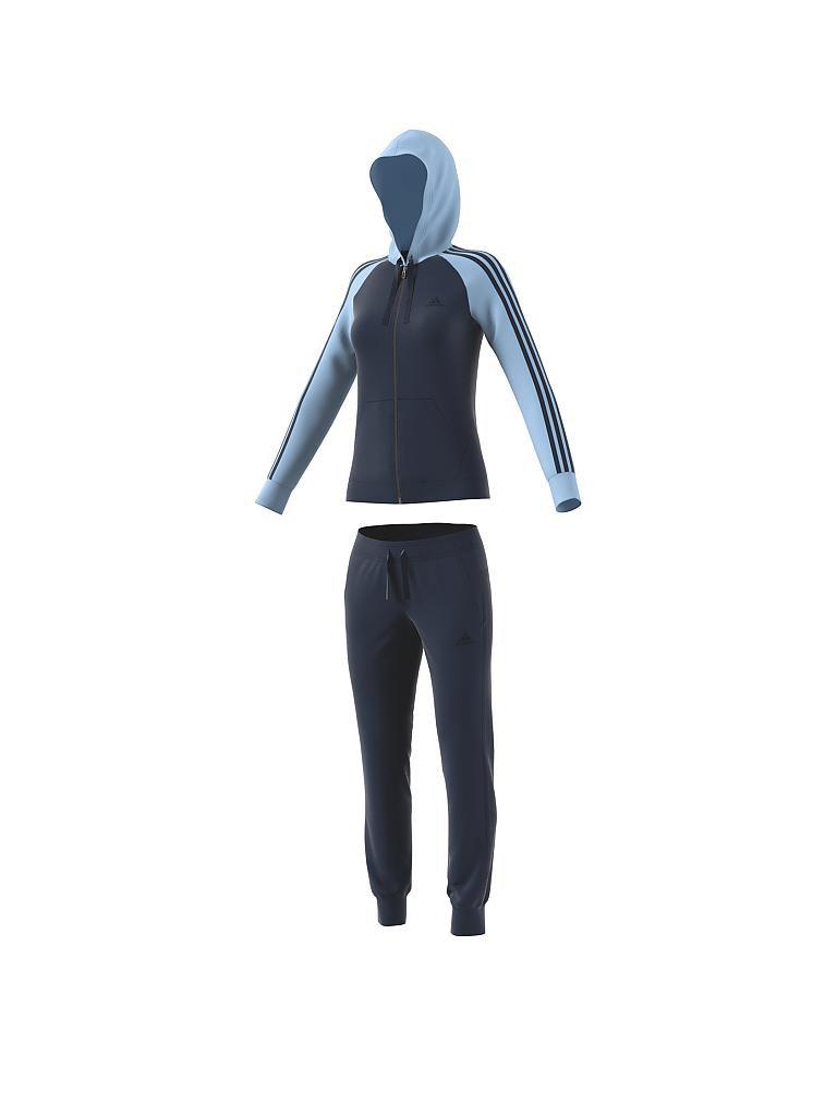 adidas damen trainingsanzug re focus blau xs. Black Bedroom Furniture Sets. Home Design Ideas