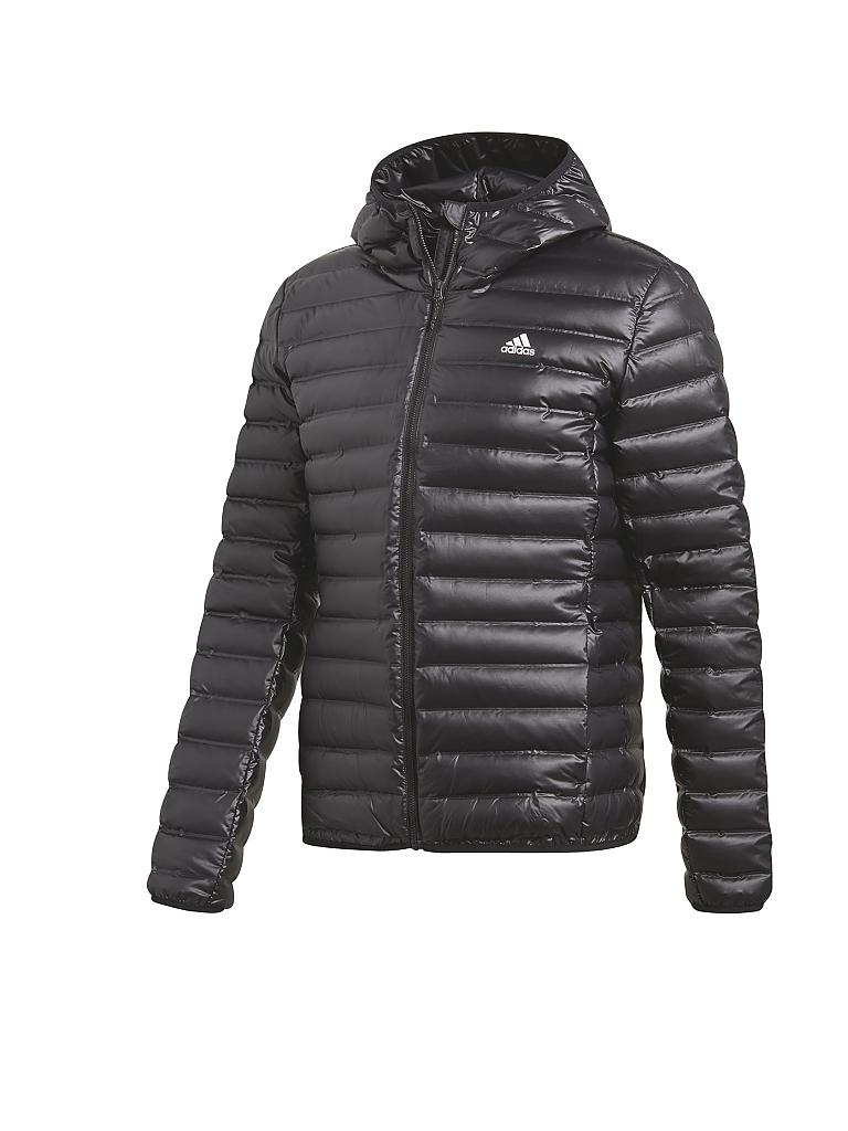 adidas herren daunenjacke varilite hooded schwarz s. Black Bedroom Furniture Sets. Home Design Ideas