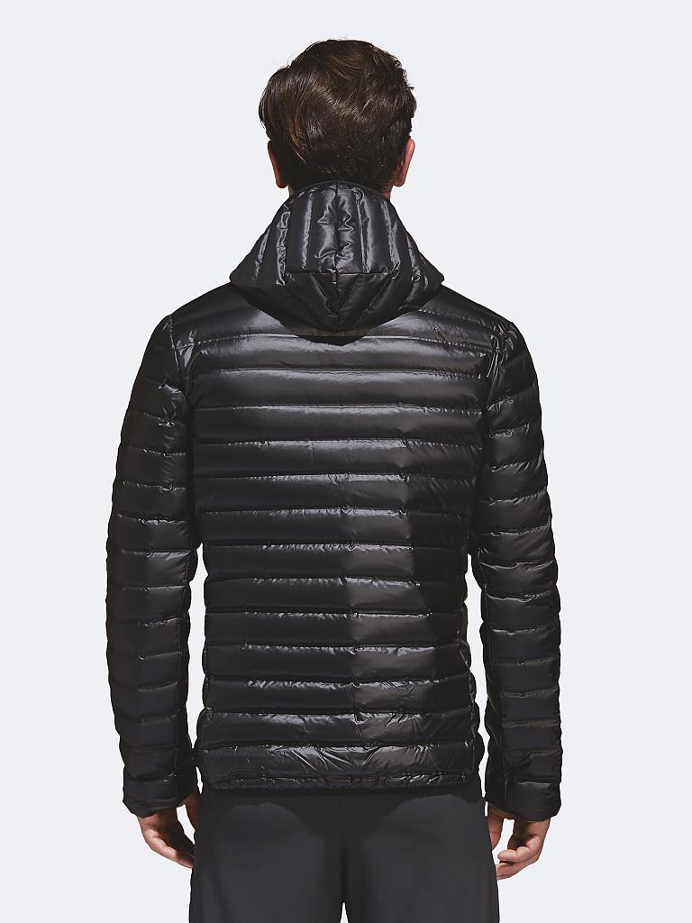 e9fe8952395f ADIDAS Herren Daunenjacke Varilite Hooded schwarz   S