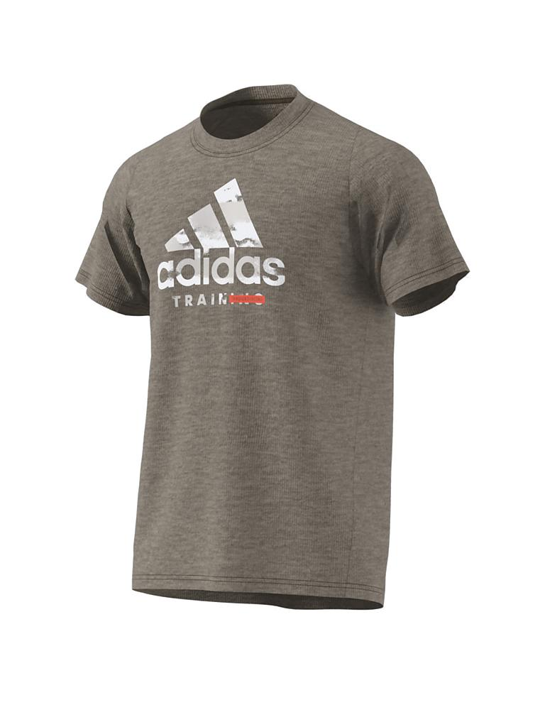 ADIDAS | Herren Fitness-Shirt FreeLift 360 Graphic Logo | braun