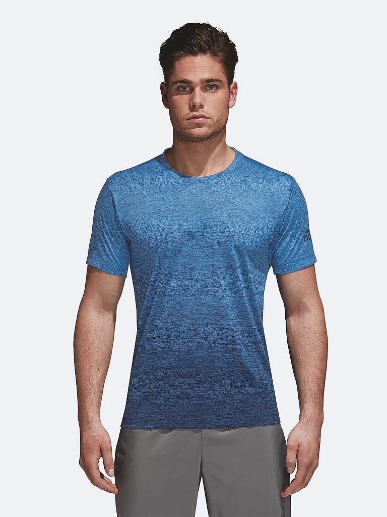adidas herren fitness shirt freelift gradient blau s. Black Bedroom Furniture Sets. Home Design Ideas