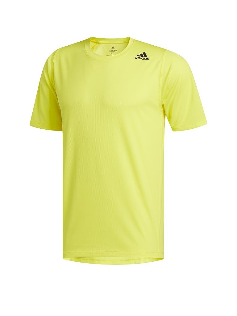 ADIDAS | Herren Fitness-Shirt FreeLift Sport Fitted 3-Streifen | gelb