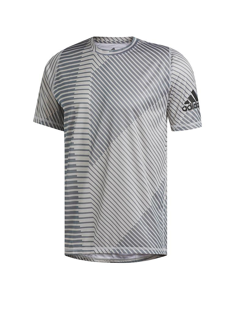 ADIDAS | Herren Fitness-Shirt FreeLift Sport Heather Strong Graphic | grau