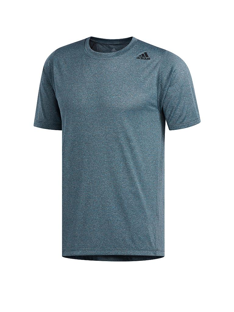ADIDAS | Herren Fitness-Shirt FreeLift Tech Climacool Fitted | petrol
