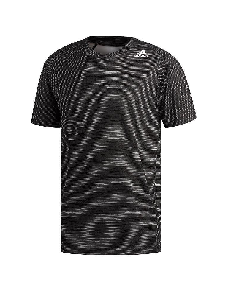 ADIDAS | Herren Fitness-Shirt FreeLift Tech Fitted Striped Heathered | schwarz
