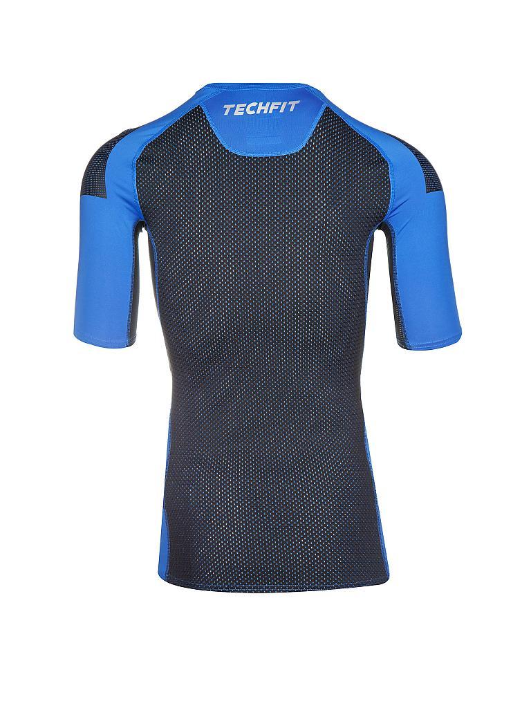 adidas herren fitness shirt techfit blau s. Black Bedroom Furniture Sets. Home Design Ideas