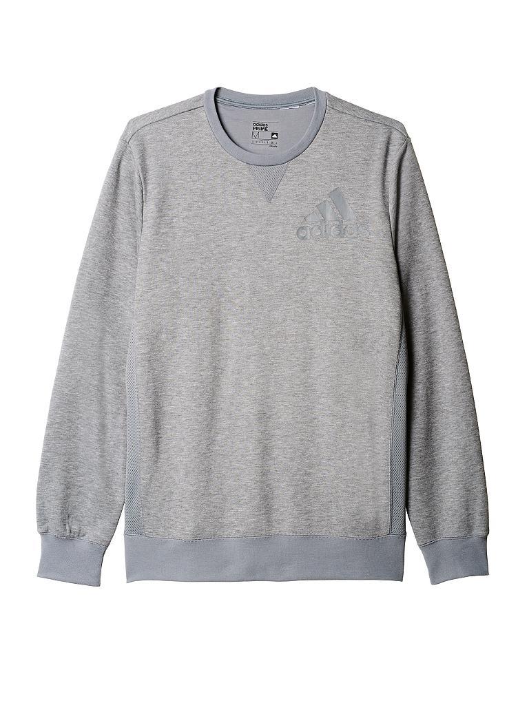 adidas herren sweater prime crew grau s. Black Bedroom Furniture Sets. Home Design Ideas