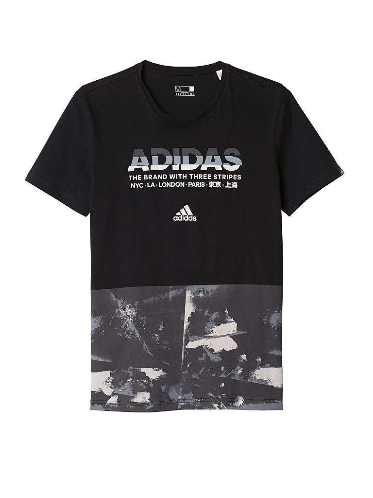 adidas herren t shirt adi aop schwarz s. Black Bedroom Furniture Sets. Home Design Ideas