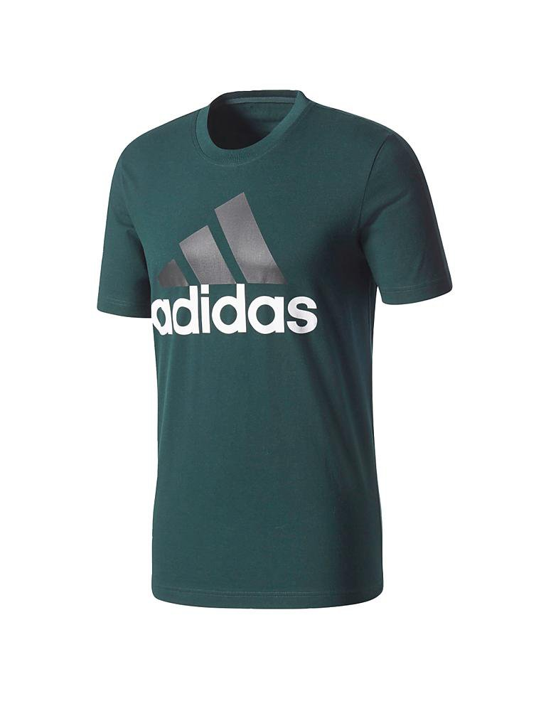 adidas herren t shirt essentials linear gr n m. Black Bedroom Furniture Sets. Home Design Ideas