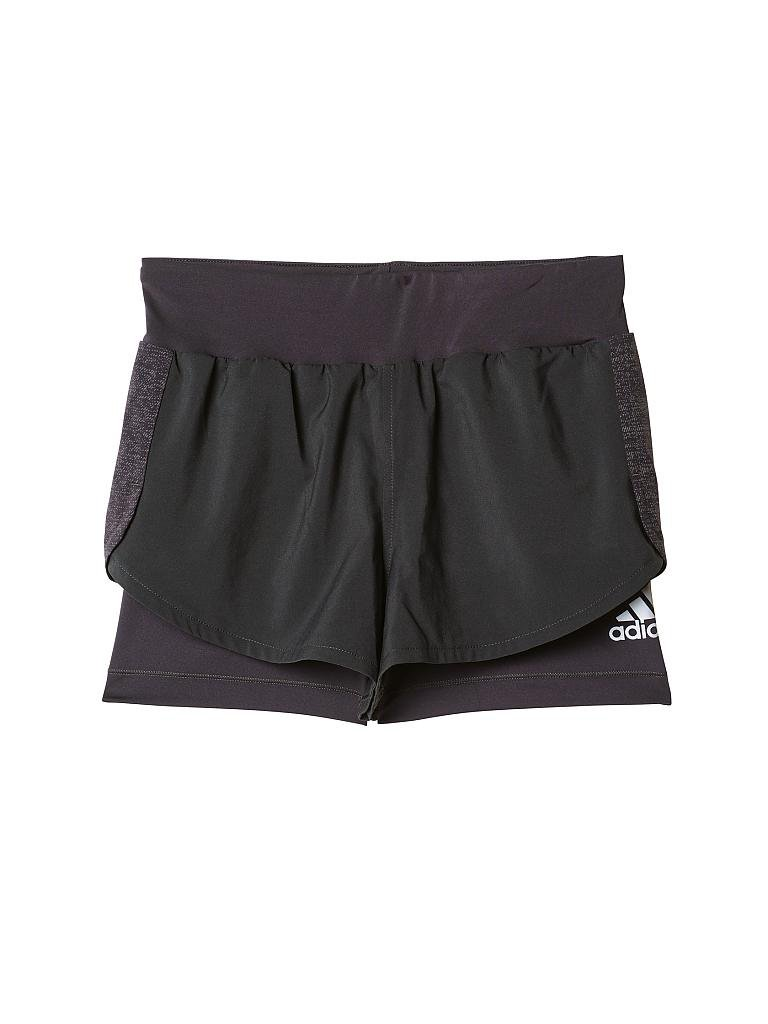 ADIDAS | Kinder Fitness-Short Two in One | schwarz