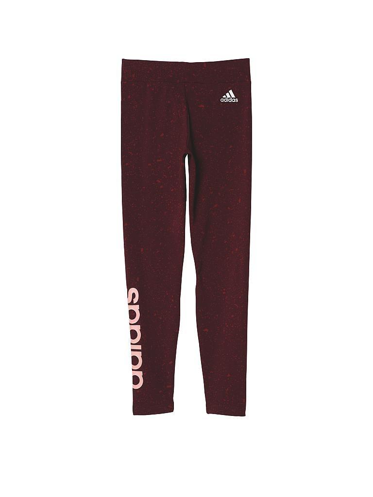 adidas kinder leggings essentials linear girl rot 110. Black Bedroom Furniture Sets. Home Design Ideas
