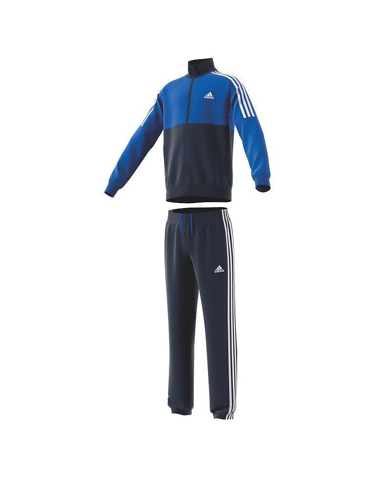 adidas kinder trainingsanzug tibero blau 110. Black Bedroom Furniture Sets. Home Design Ideas