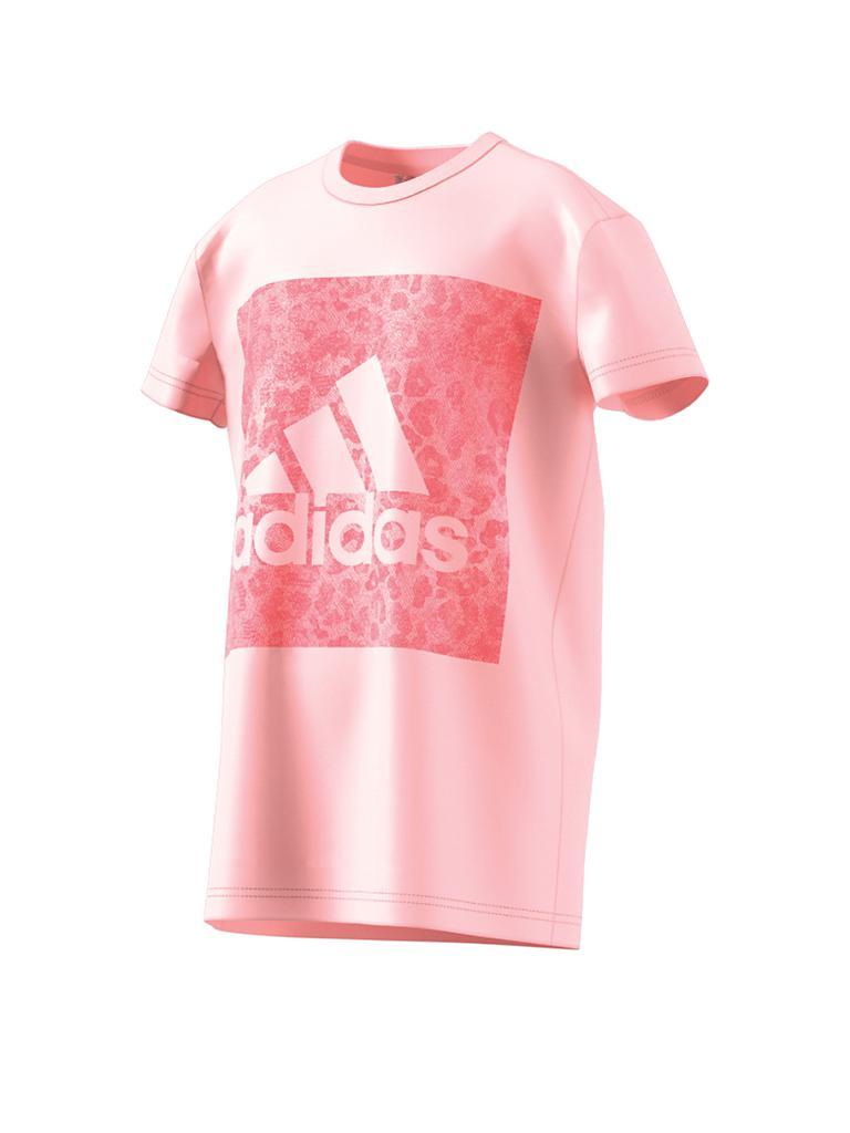adidas m dchen t shirt essentials logo in the box rosa 110. Black Bedroom Furniture Sets. Home Design Ideas