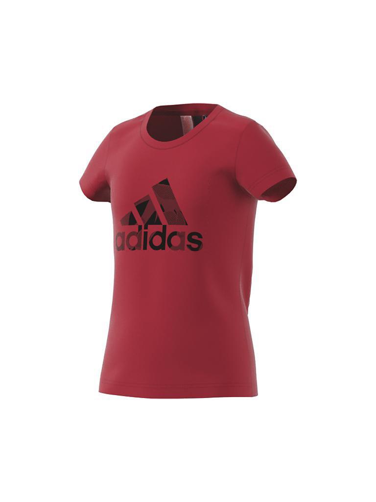 feb582daae2ac5 ADIDAS Mädchen T-Shirt Logo rot