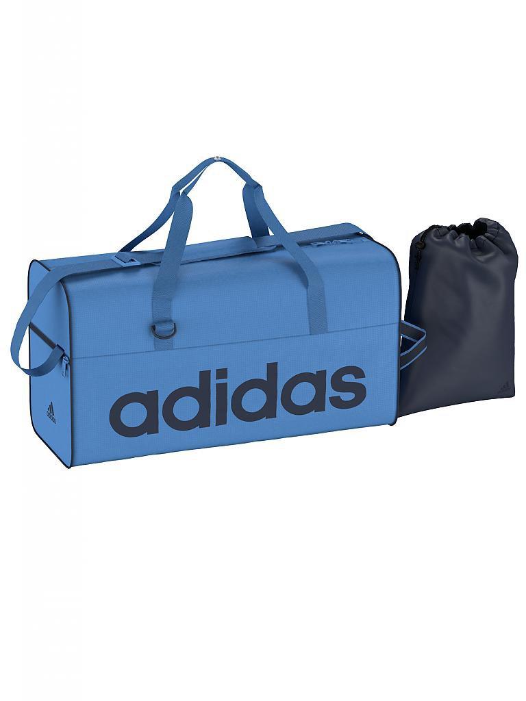 adidas trainingstasche linear m blau. Black Bedroom Furniture Sets. Home Design Ideas