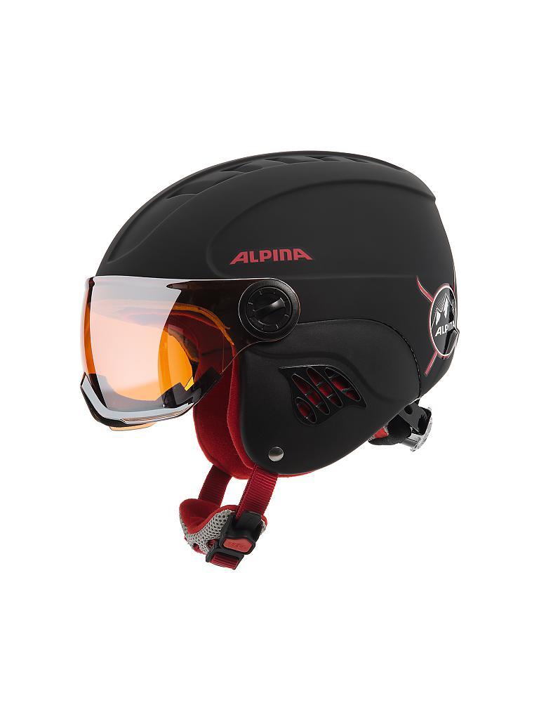 alpina kinder helm carat le visor hm schwarz 51 55cm. Black Bedroom Furniture Sets. Home Design Ideas